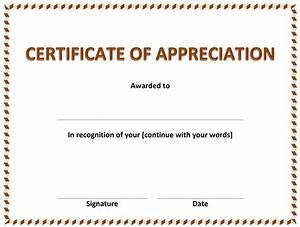 Free Certificate Template Free Certificate Of Appreciation Template Best Professional Templates