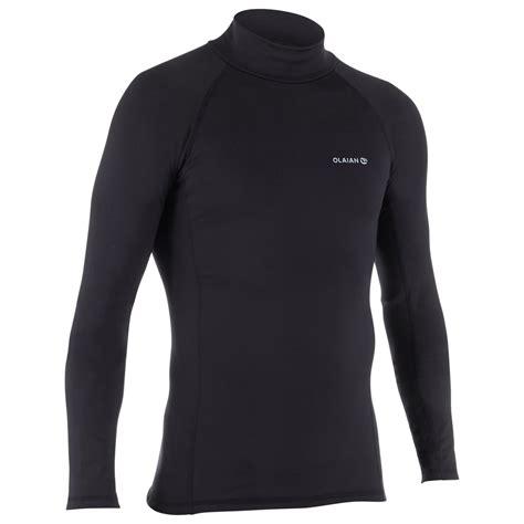 thermo shirt langarm uv schutz top  fleece herren olaian decathlon
