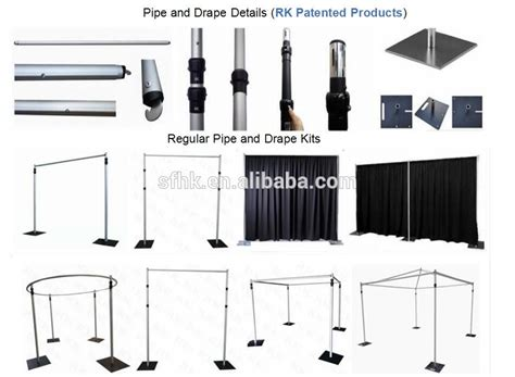 Where To Buy Pipe And Drape - portable aluminum pipe and drape backdrop kit 6ft x 10ft