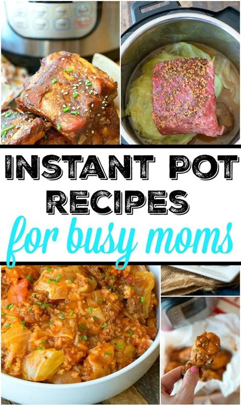 instant pot recipes cooker pressure easy dinner instantpot mom busy beginners electric desserts breakfast too moms around should