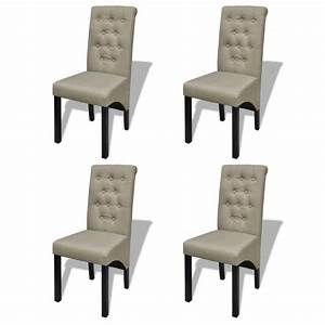 4x polyester fabric dining chairs in antique beige buy With salle À manger contemporaineavec chaise confortable