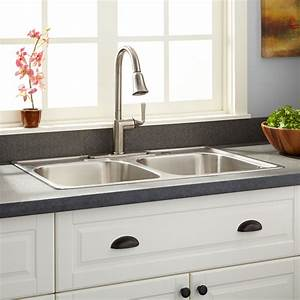 33quot Infinite Double Bowl Stainless Steel Drop In Sink 9