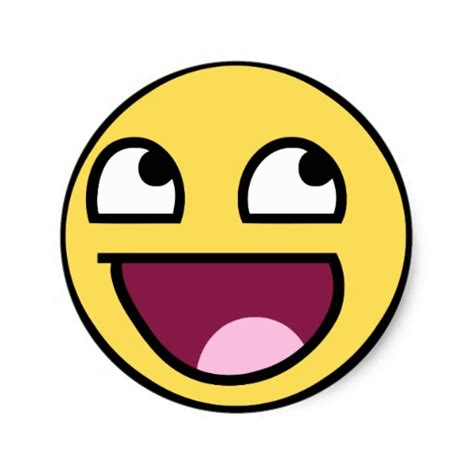 Meme Smiley - awesome face