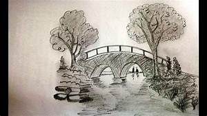 How To Draw A Bridge Step By Step