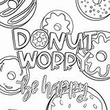 Donut Coloring Worry Pages Sheet Printable Pdf Fun Link sketch template