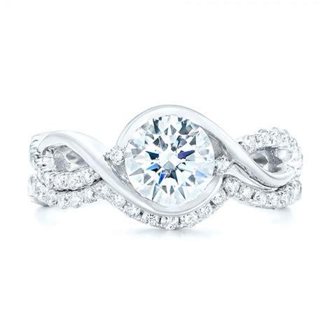Crisscross Wrap Diamond Engagement Ring #102477. Jewelers Engagement Rings. 22kt Gold Rings. Zig Zag Rings. Curtain Rings. Minimal Wedding Rings. Engagement Ring Set Wedding Rings. Bold Wedding Rings. Writing Rings