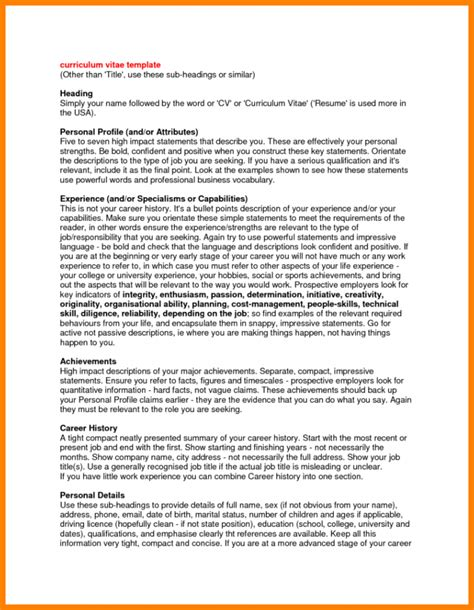 Resume Profiles Exles by 3 Resume Profile Statement Appeal Leter
