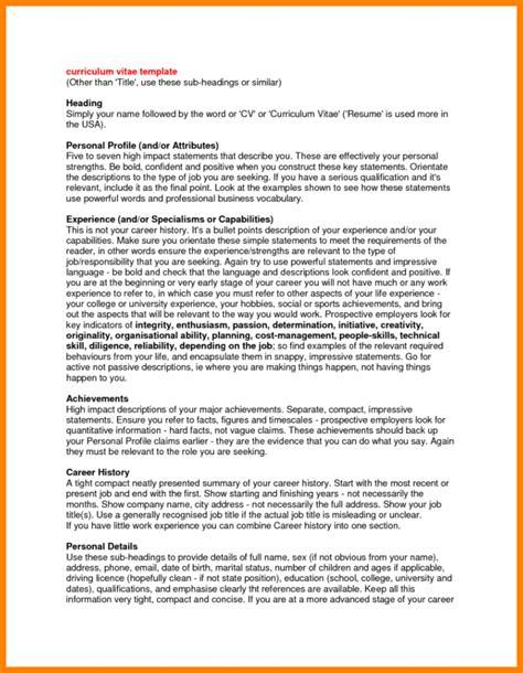 3+ Resume Profile Statement  Appeal Leter