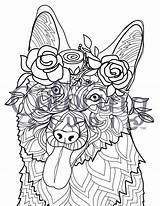 Coloring Pages Labradoodle Adult Printable Flower Shepherd German Adults Posh Doodle Dog Colouring Dogs Puppy Mandala Crowned Getdrawings Shepard Hard sketch template