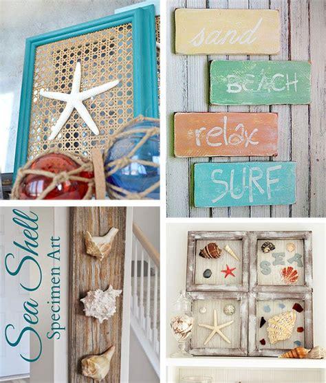Easy rope wrapped nautical planters. 29 Beach Crafts: Coastal DIY Wall Art | Beach theme wall decor, Beach bathroom decor, Beach ...