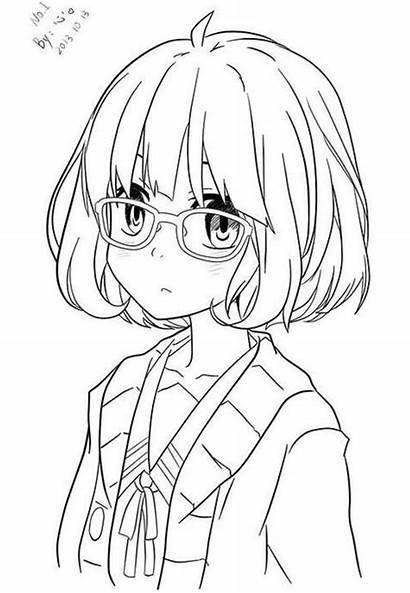 Anime Mirai Kuriyama Coloring Printable Pages
