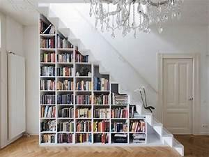 Comment Faire Une Bibliothèque : quelques id es cr atives de rangement sous pente ~ Dode.kayakingforconservation.com Idées de Décoration