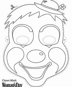 free color print face masks parties under the big top With jester mask template