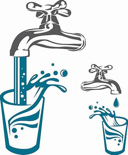 Water Vector Pouring Tap Clip Illustrations Illustration