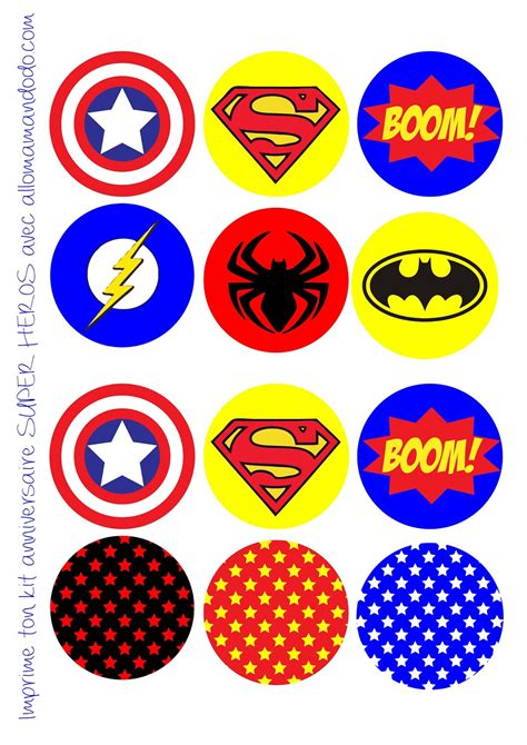 superheroes birthday party  printable wrappers