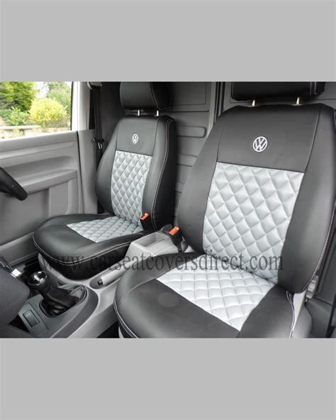siege caddie volkswagen vw caddy black grey seat covers car seat