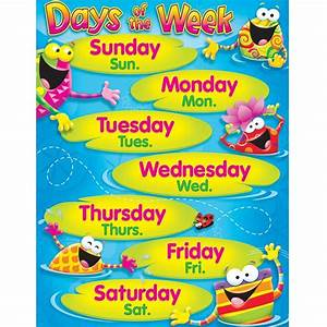 Days of the Week Frog-tastic!? Learning Chart - T-38411