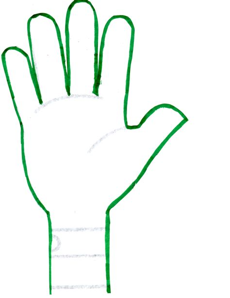 hand print templates clipart