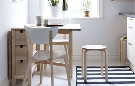 cuisine dinette ikea 25 ways to use ikea norden gateleg table in décor digsdigs