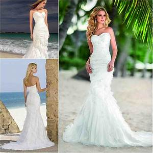 mermaid style beach wedding dresses wedding and bridal With beach style wedding dress