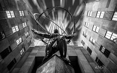 Atlas Rockefeller Center York Manhattan Jersey Travel