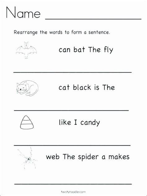 kindergarten writing sentences worksheets sentence writing