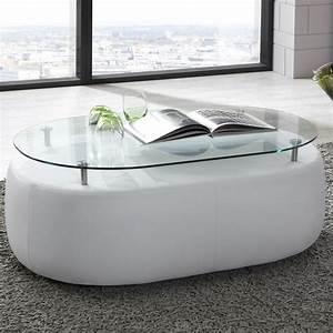 Couchtisch Weiß Glas : couchtisch wohnzimmertisch stubentisch in kunstleder wei glas ~ Eleganceandgraceweddings.com Haus und Dekorationen