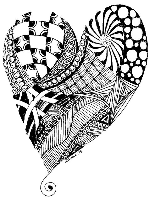 deco chick zentangle
