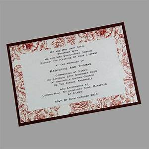 postcard size wedding invitations which are sold as a kit With 3 layer wedding invitations