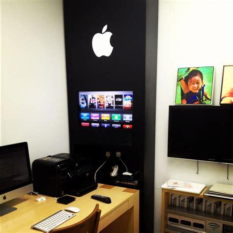 insane apple store inspired home office design