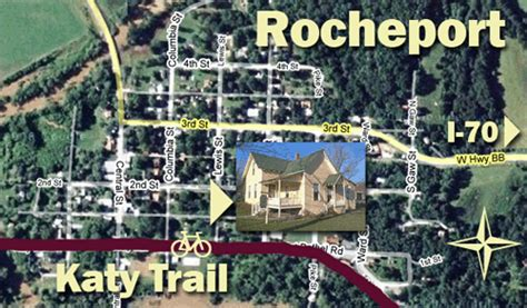 37427 rocheport mo bed and breakfast maps and directions katy trail b b