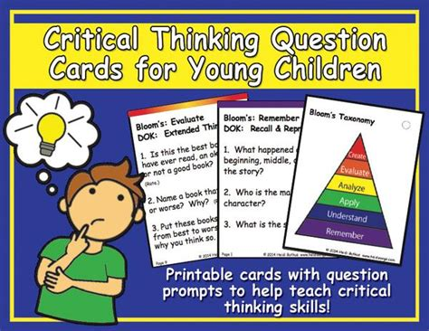 critical thinking question cards heidi songs 211 | Critical Thinking Cards Cover grande