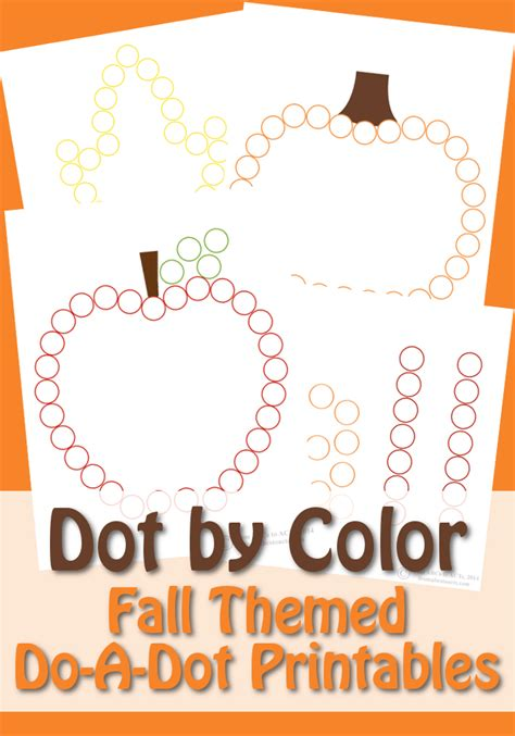 dot  color fall   dot printables  abcs  acts
