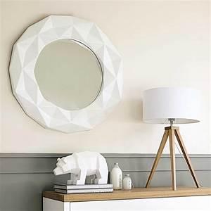 Spiegel Zum Aufstellen : spiegel fubuki rund mit rahmen aus kunstharz d 79 cm wei maisons du monde ~ Whattoseeinmadrid.com Haus und Dekorationen