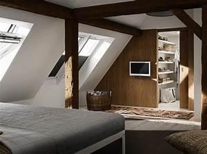 Deco Maison Avec Poutre : 35 chambres sous les combles elle d coration ~ Zukunftsfamilie.com Idées de Décoration