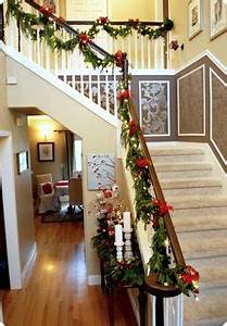 Christmas Stairs Decorations on Pinterest