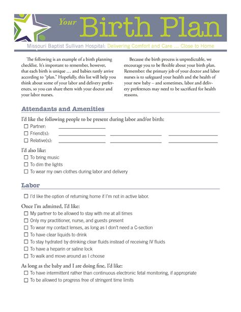 Birth Plan Template Australia by 10 Best Images Of Birth Plan Page 1 Birth Plan Worksheet