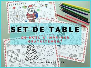 Sets De Table Pour Les Ftes De Nol Imprimer Gratuitement