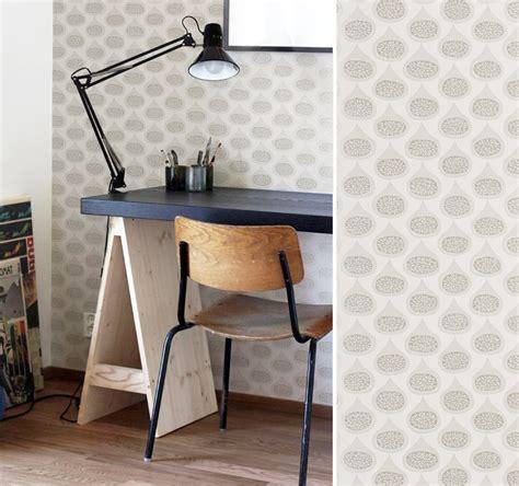 bureau peint papiers peints pour un bureau scandinave au fil des