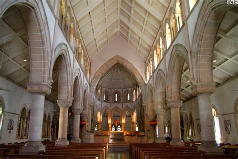 Gothic interior of St. Andrew's Cathedral. Honolulu, HI.