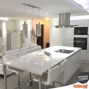cuisine ilot cuisson cuisine en image With salon salle a manger contemporain pour petite cuisine Équipée