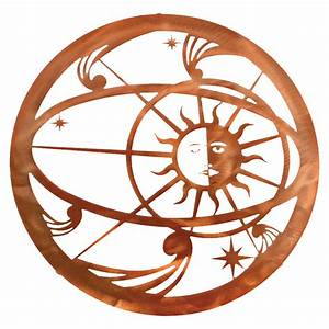 celestial sun moon metal wall art With kitchen cabinets lowes with celestial sun wall art