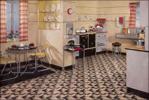 1930 homes interior kitchen inspiration from the 1930s 1935 kitchen interior by armstrong cork