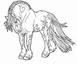 Horse Coloring Draft sketch template