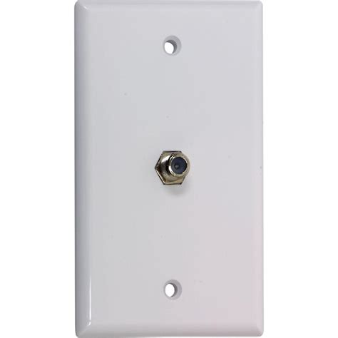 Kitchen Storage Ideas - ge 1 gang coaxial cable wall plate 6 pack white 73328 the home depot
