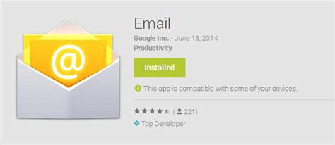 stock android email app puts android s stock e mail app in the play