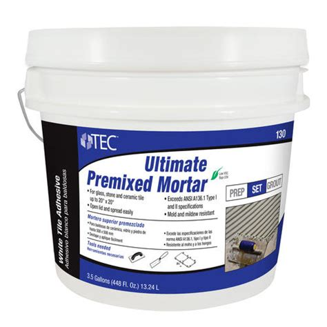 tec 174 ultimate premixed mortar 3 5 gal at menards 174