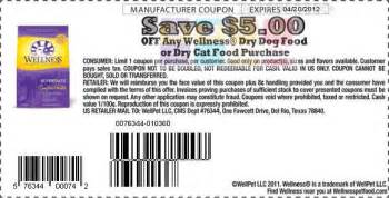 get 5 00 printable coupons for wellness cat food today