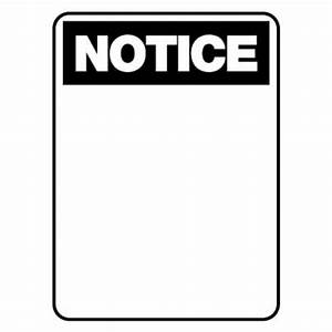 Notice Sign - Notice Blank 600 x 450mm - Printed Fabric ...