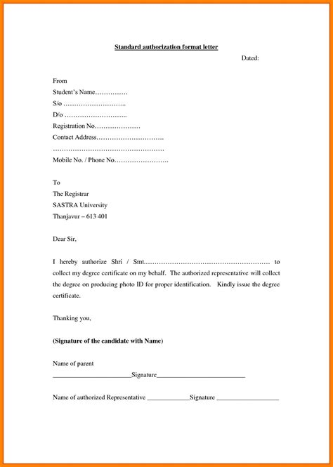 write attestation letter letter signature